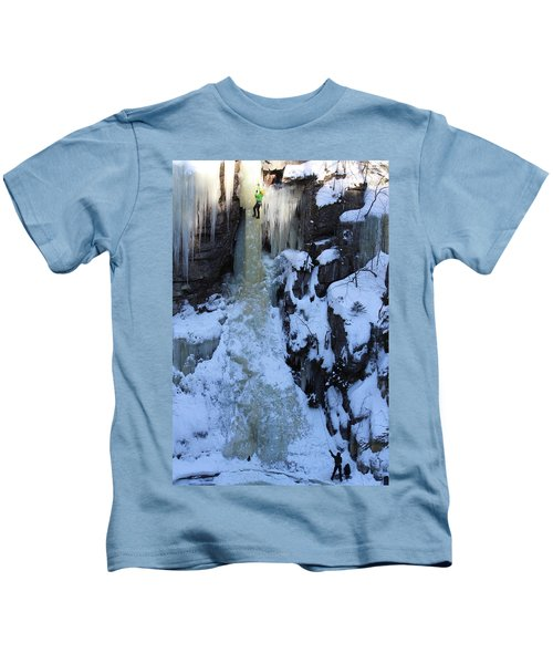 The Wintery Flume  Kids T-Shirt