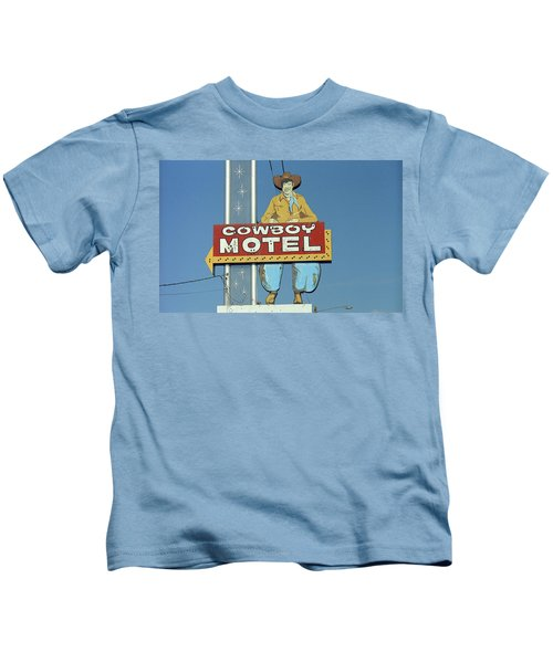 Route 66 - Cowboy Motel Kids T-Shirt