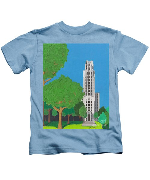 The Cathedral Of Learning Kids T-Shirt