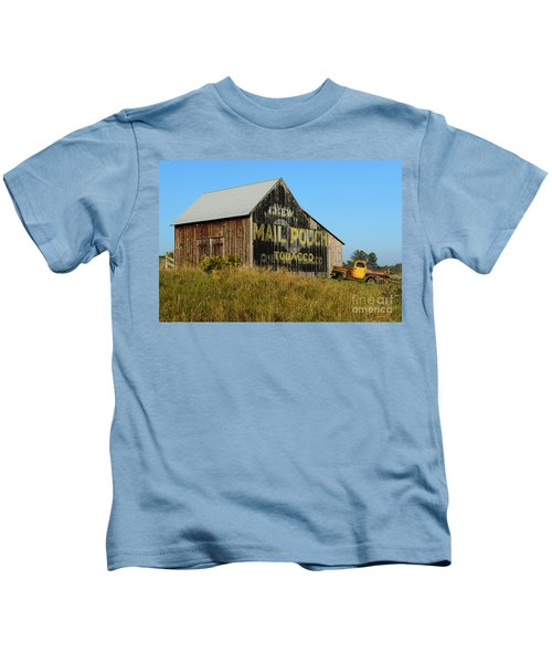 1951 Ford Pick Up Truck At The Barn Kids T-Shirt