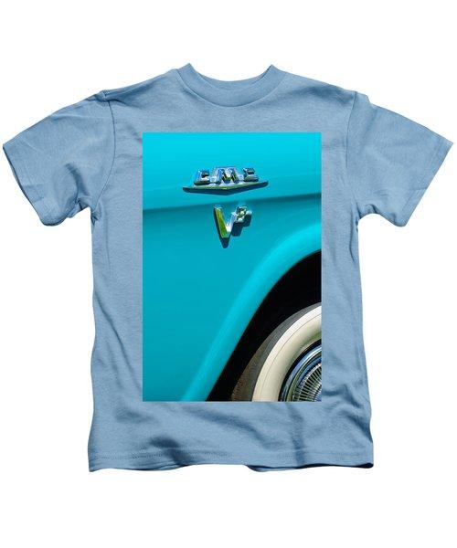 1958 Gmc Series 101-s Pickup Truck Side Emblem Kids T-Shirt