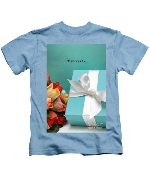 Little Blue Gift Box Kids T-Shirt