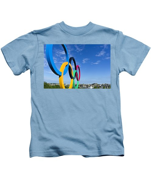 2012 Olympic Rings Over Edinburgh Kids T-Shirt