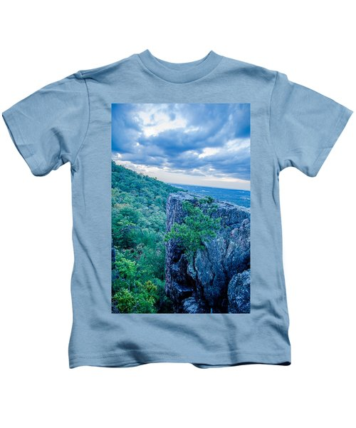 Beautiful Aerial Landscape Views From Crowders Mountain Near Gas Kids T-Shirt