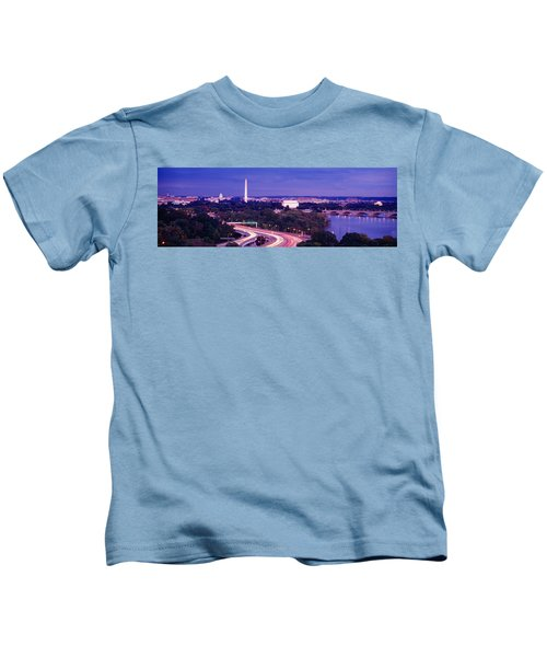 High Angle View Of A Cityscape Kids T-Shirt by Panoramic Images