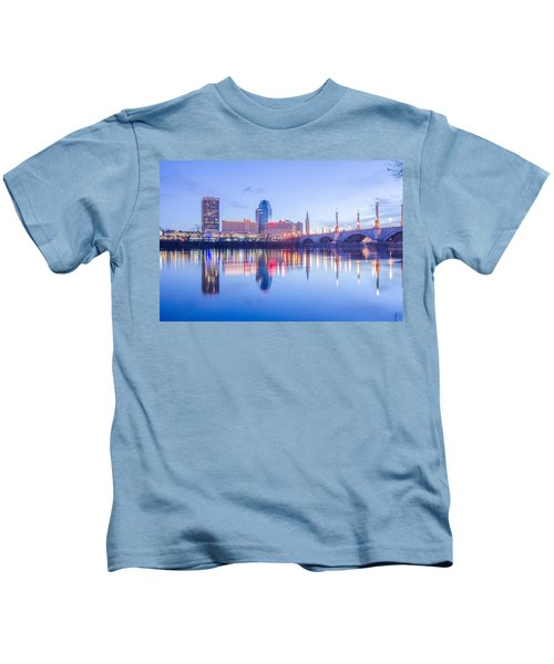 Springfield Massachusetts City Skyline Early Morning Kids T-Shirt