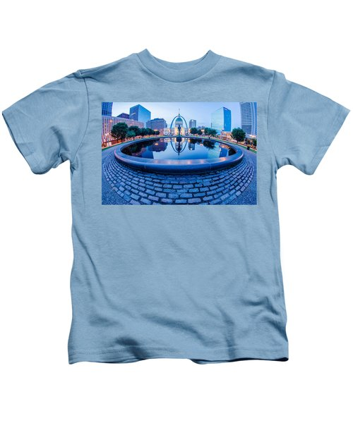 St. Louis Downtown Skyline Buildings At Night Kids T-Shirt