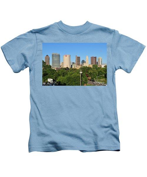 Columbus Ohio Skyline Photo Kids T-Shirt