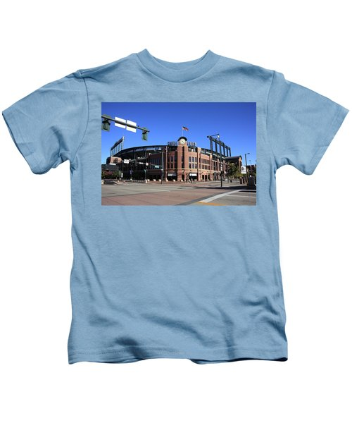 Coors Field - Colorado Rockies Kids T-Shirt