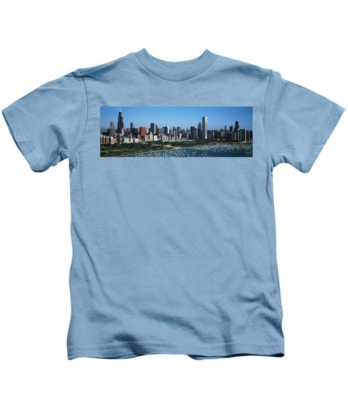 Aerial View Of Buildings In A City Kids T-Shirt