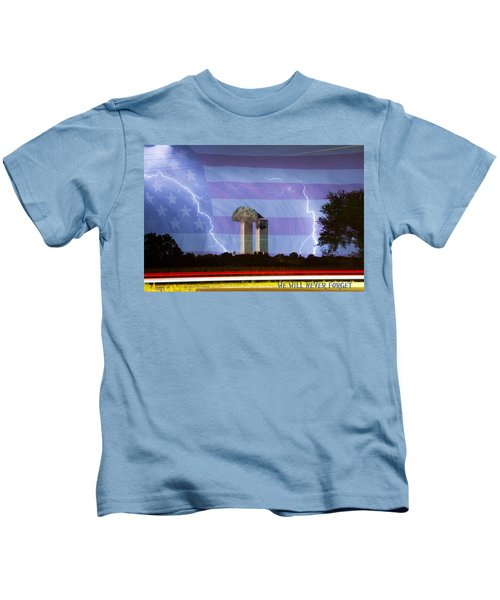 9-11 We Will Never Forget 2011 Poster Kids T-Shirt