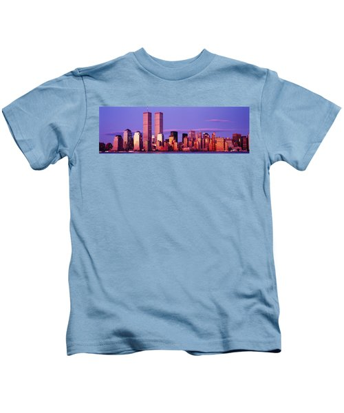 Skyscrapers In A City, Manhattan, New Kids T-Shirt