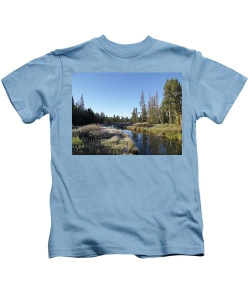 A Frosty Morning Along Obsidian Creek Kids T-Shirt
