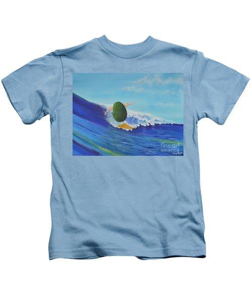 Alex The Surfing Avocado Kids T-Shirt