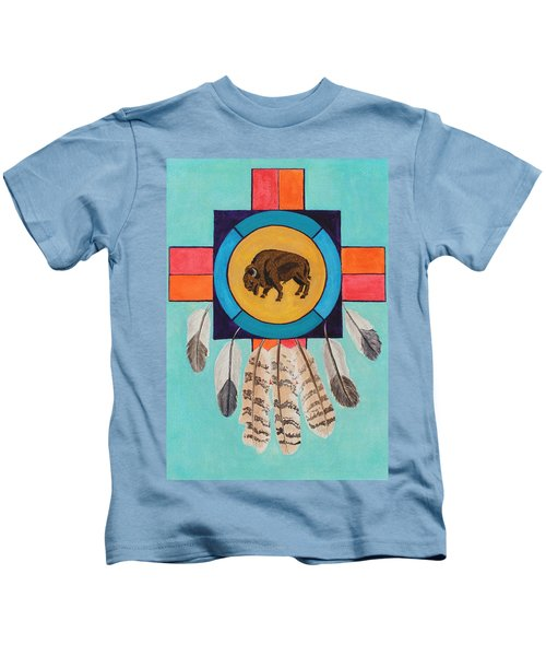 American Bison Dreamcatcher Kids T-Shirt