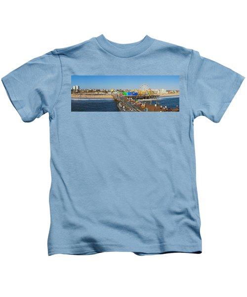 Amusement Park, Santa Monica Pier Kids T-Shirt