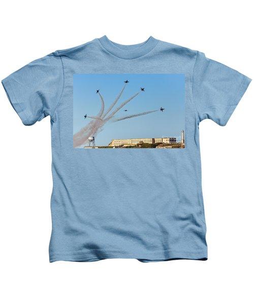 Angels Over Alcatraz Kids T-Shirt