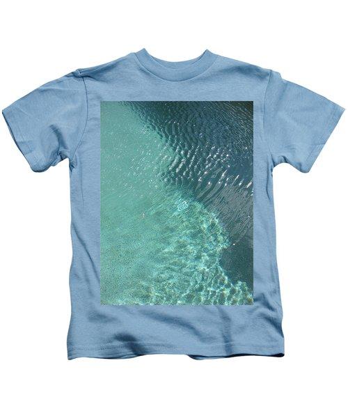 Art Homage David Hockney Swimming Pool Arizona City Arizona 2005 Kids T-Shirt