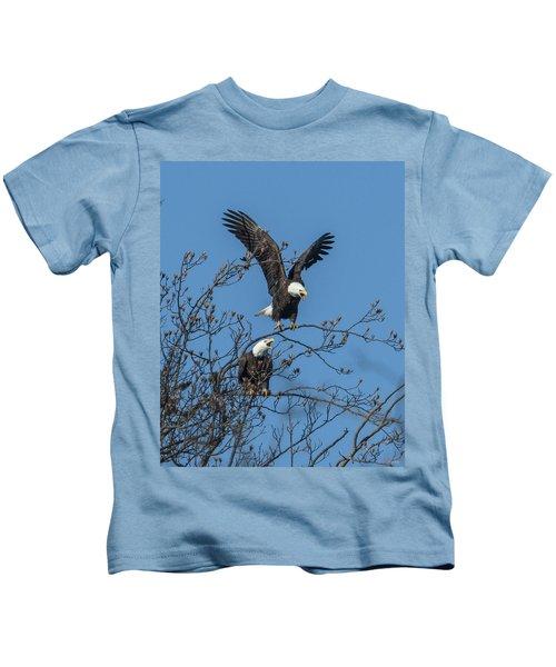 Bald Eagles Screaming Drb169 Kids T-Shirt