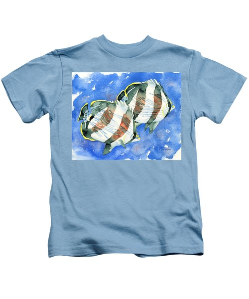 Banded Butterflyfish Kids T-Shirt