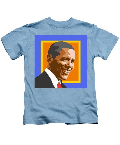 Barack Kids T-Shirt by Douglas Simonson