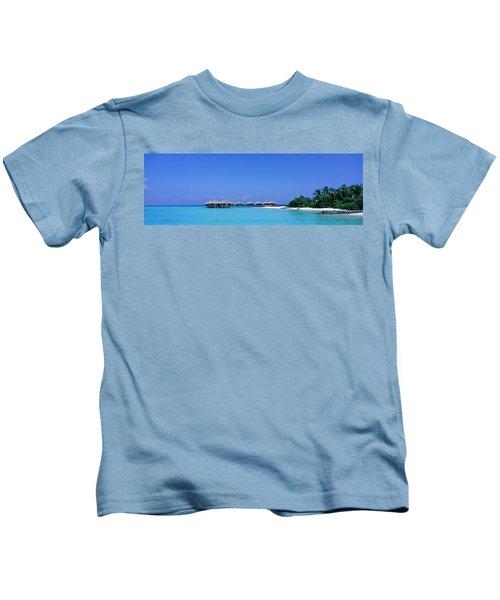 Beach Cabanas, Baros, Maldives Kids T-Shirt