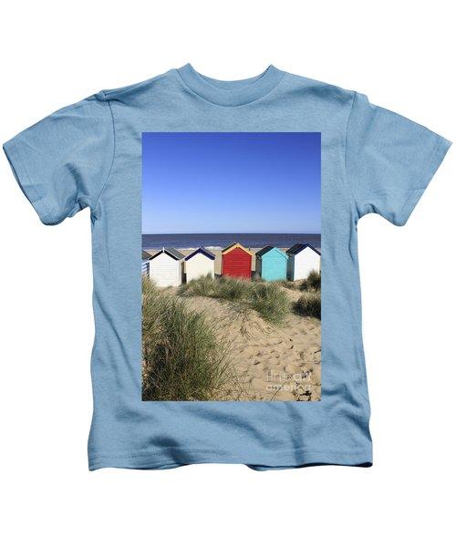 Southwold Beach Huts Uk Kids T-Shirt