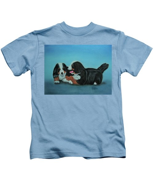 Bernese Mountain Puppies Kids T-Shirt