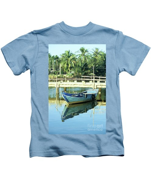 Blue Boat 02 Kids T-Shirt