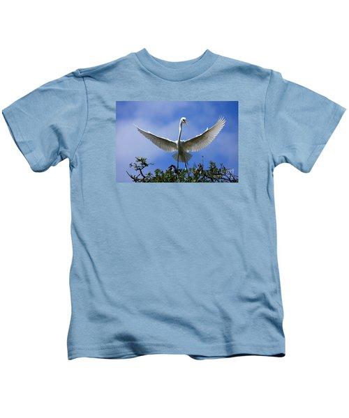 Blue Sky Landing Kids T-Shirt