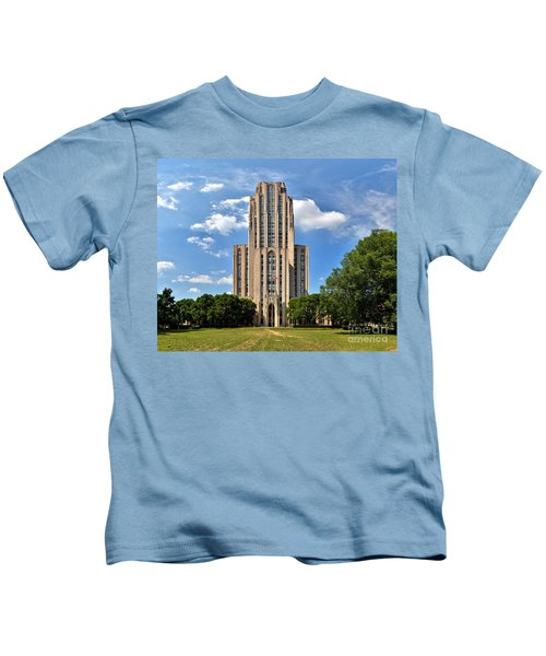 Cathedral Of Learning Pittsburgh Pa Kids T-Shirt