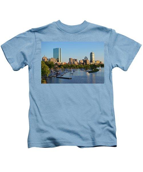 Charles River At Sunset Kids T-Shirt