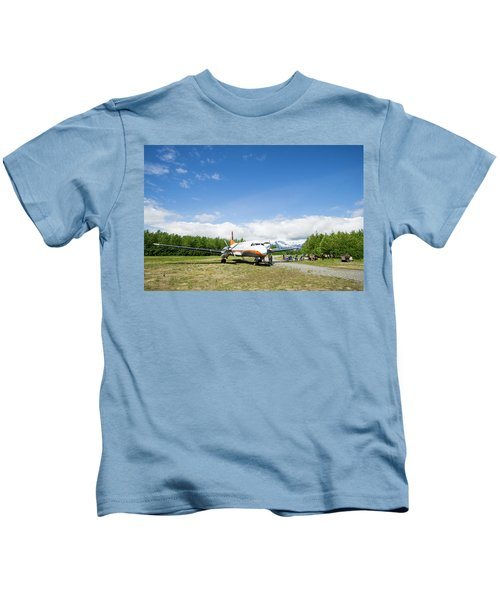 Chartered Flight Back To Whitehorse Kids T-Shirt