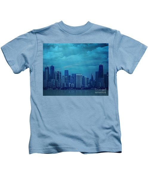 City In Blue Kids T-Shirt
