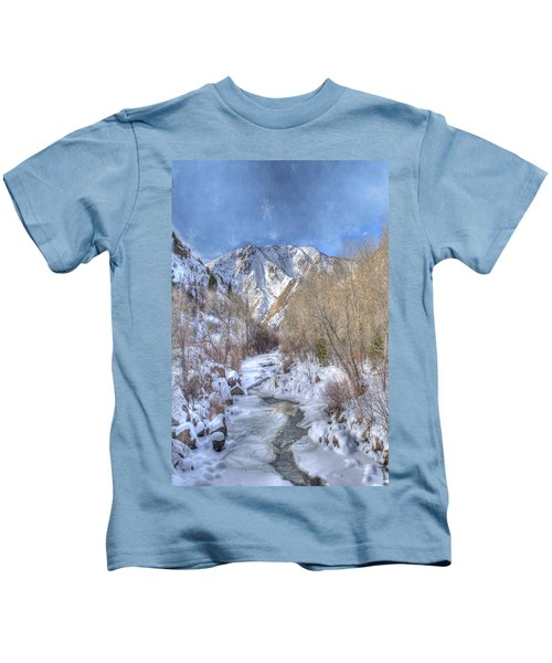 Clear Creek In The Winter Kids T-Shirt