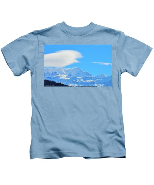 Cold And Sunny Alps Kids T-Shirt