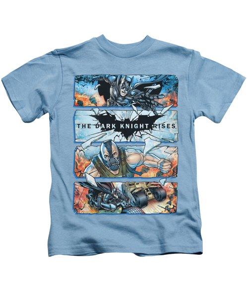 Dark Knight Rises - Shattered Glass Kids T-Shirt
