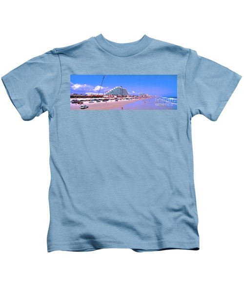 Daytona Main Street Pier And Beach  Kids T-Shirt