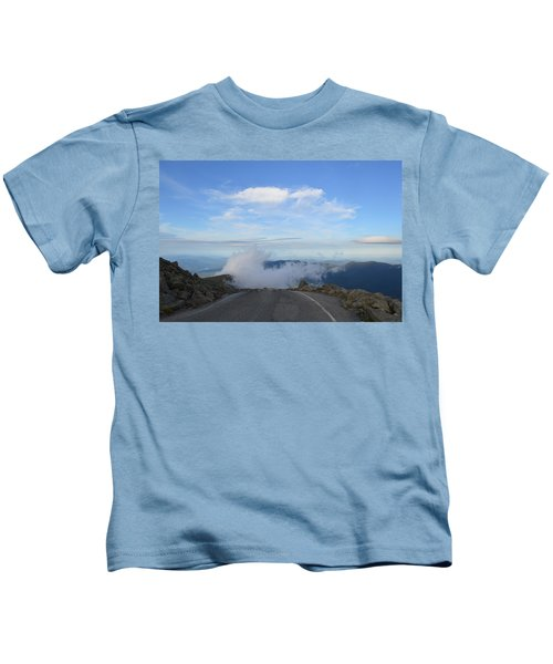 Descending Into The Clouds Kids T-Shirt