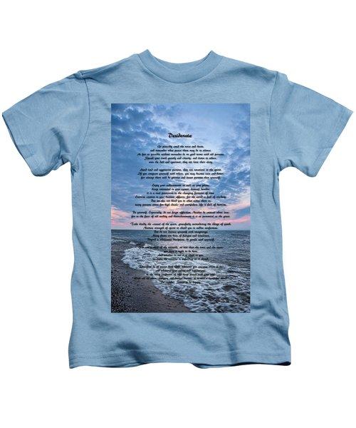 Desiderata Wisdom Kids T-Shirt