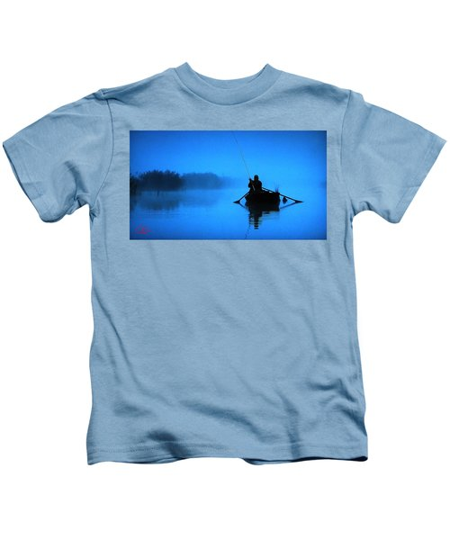 Kids T-Shirt featuring the photograph Early Morning Fishing  by Colette V Hera  Guggenheim