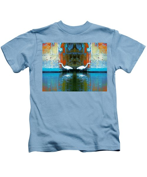 Egrets Nest In A Palace Kids T-Shirt