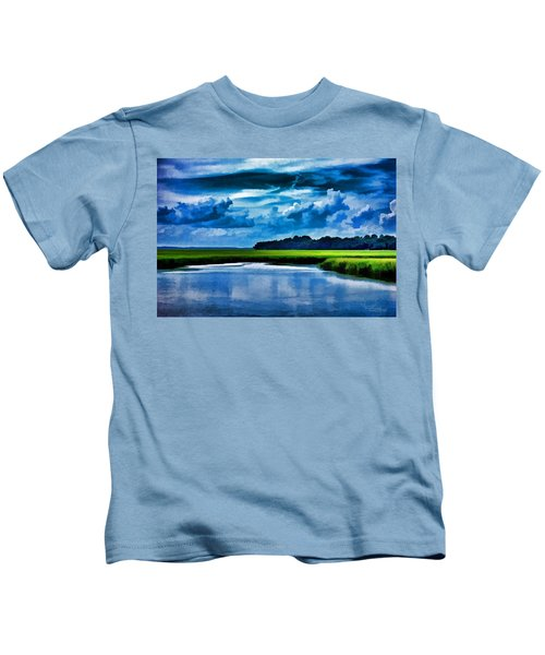 Evening On The Marsh Kids T-Shirt