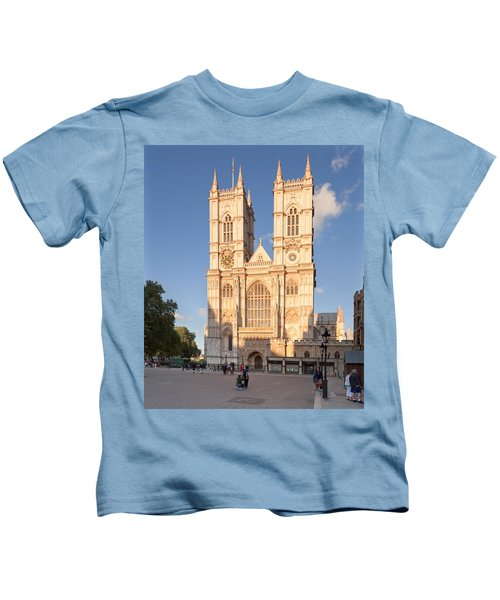 Facade Of A Cathedral, Westminster Kids T-Shirt
