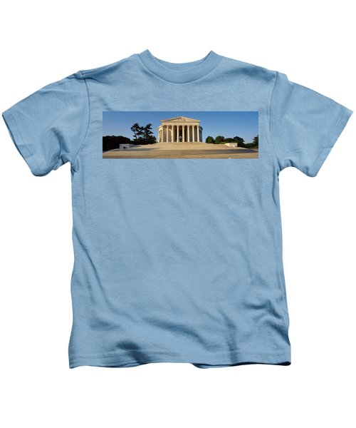 Facade Of A Memorial, Jefferson Kids T-Shirt by Panoramic Images