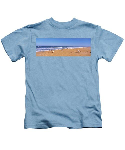 Flock Of Birds On The Beach, Flagler Kids T-Shirt