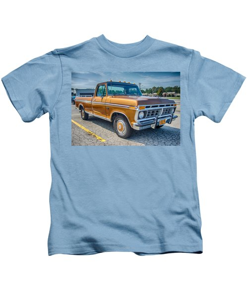 Ford F-100 7p00531h Kids T-Shirt