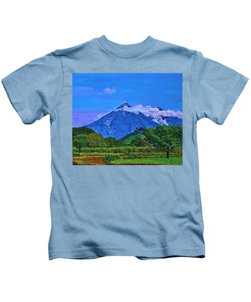 Fuego Volcano Guatamala Kids T-Shirt