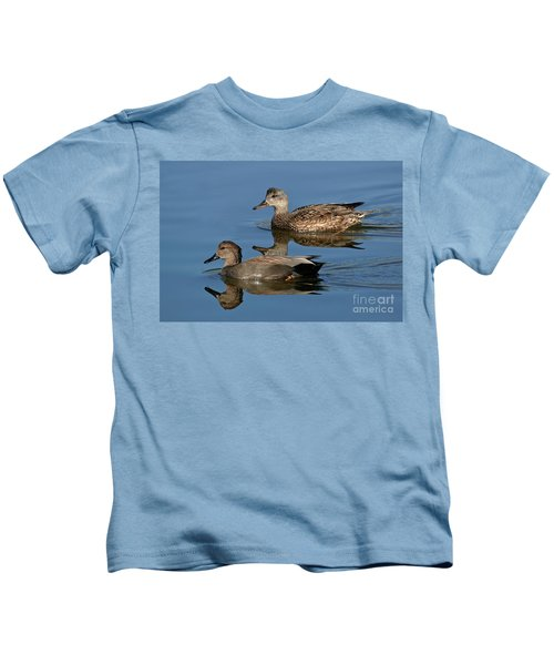 Gadwall Male & Female Swimming Kids T-Shirt