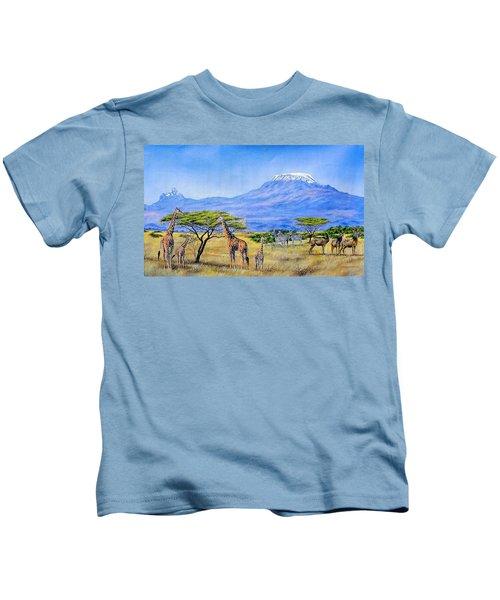 Gathering At Mount Kilimanjaro Kids T-Shirt